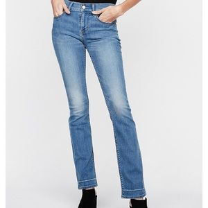 Express stretch barely boot mid rise jeans